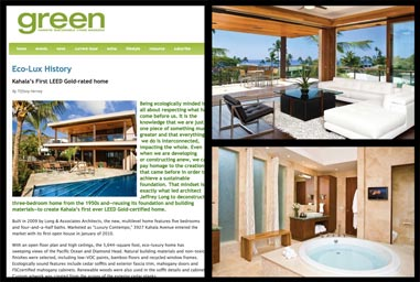 Kahala's First LEED Gold-rated home.